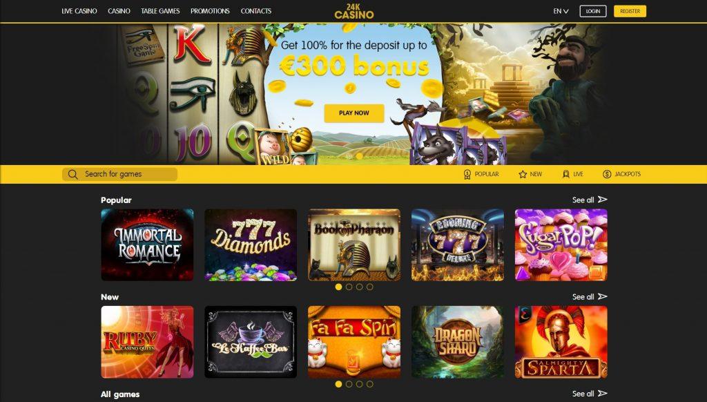 24k casino home page