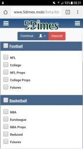 5dimes app sportsbook