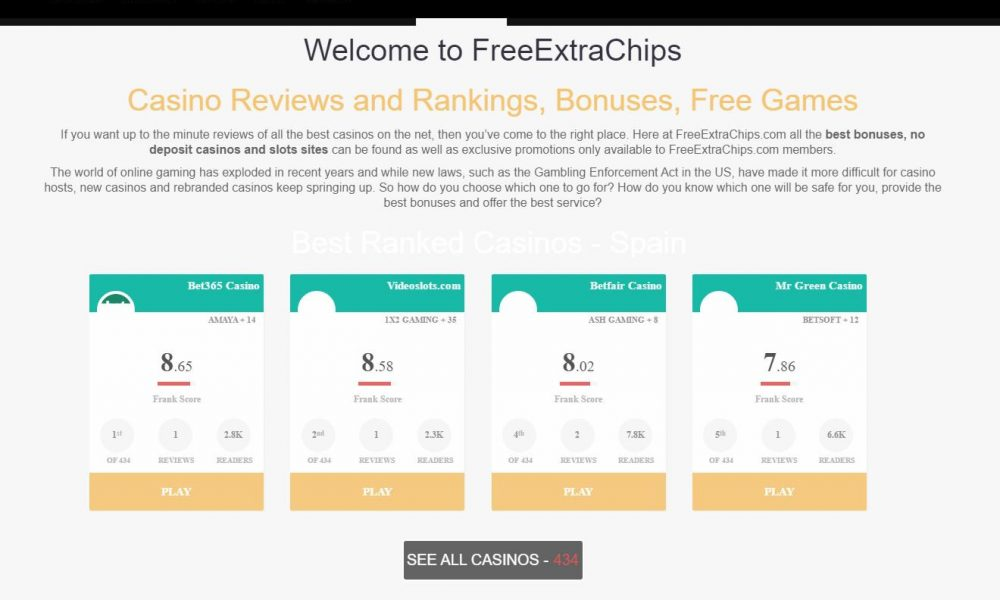 Freeextrachips And The Casino Review Algorithm FRank
