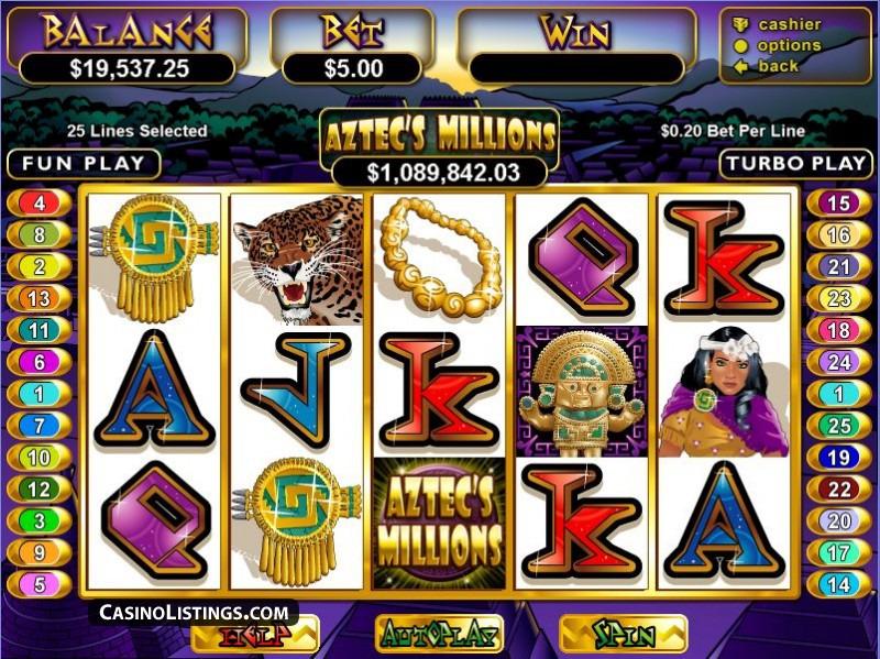 aztecs millions slot