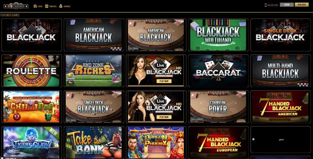 myb casino games
