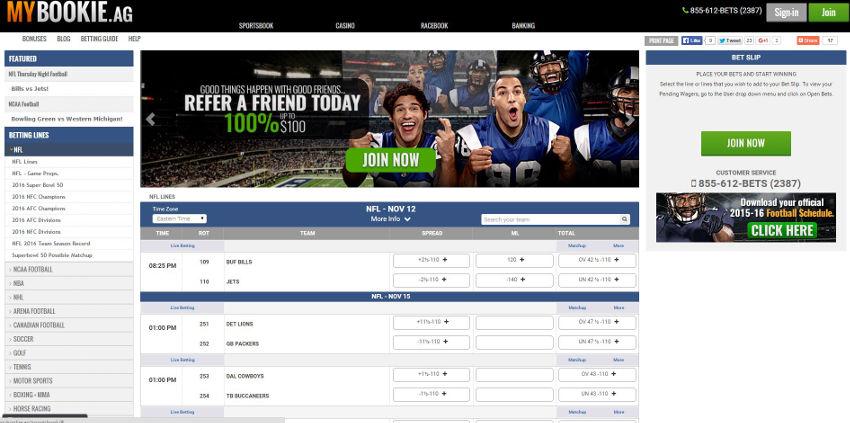 sports betting site mybookie