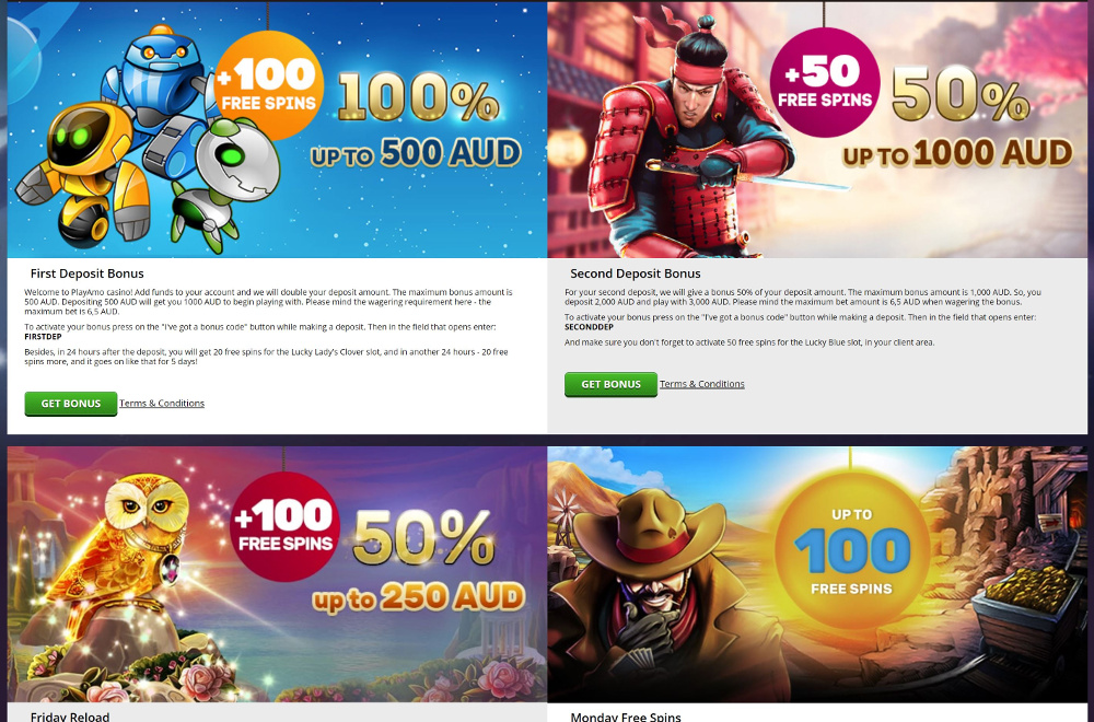 playamo casino bonus promotions